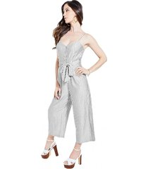 enterito sl dallas waist tie jumpsuit blanco guess