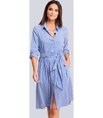jurk alba moda blauw::wit