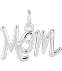 "fine silver plated ""mom"" charm"