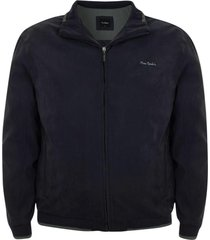 jaqueta plus size suede com manta marinho - azul marinho - masculino - dafiti