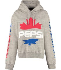 dsquared2 cotton hoodie - x pepsi