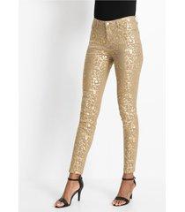 broek met gouden print