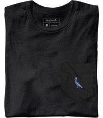 camiseta malha preta bolso preto reserva masculina - masculino