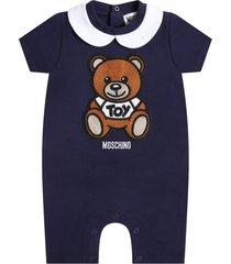 moschino blue romper for babykids witth teddy bear