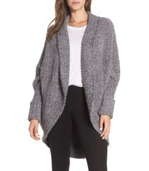 women's barefoot dreams cozychic cocoon cardigan, size large/x-large - grey