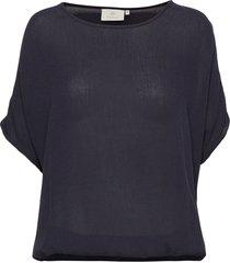 amber stanley ss blouses short-sleeved blå kaffe