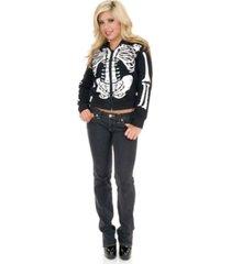 buyseasons women's skeleton sweatshirt hoodie