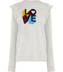 sweater met tekst love