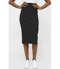 falda lez a lez negro - calce ajustado