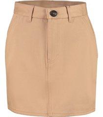 ami alexandre mattiussi cotton mini-skirt