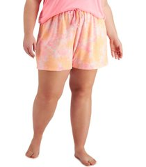 jenni plus size tie-dyed pajama shorts, created for macy's