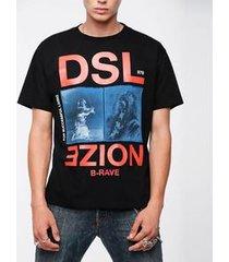 camiseta diesel t wallace xc preto