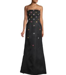 embellished silk trumpet gown