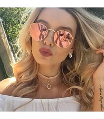 classic vintage round mirror designer sunglasses metal lady circle retro uv400 w