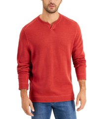 tommy bahama men's flipshore abaco reversible split-neck sweatshirt