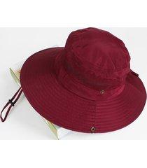 cappello da pescatore con tesa larga pieghevole in mesh traspirante anti-uv