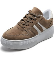 tenis beige-blanco kanna & co