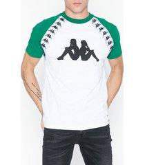 kappa t-shirt s/s auth bardi t-shirts & linnen vit/grön