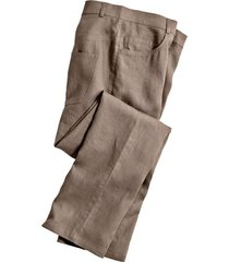 linnen broek in 5-pocket-style, taupe 54
