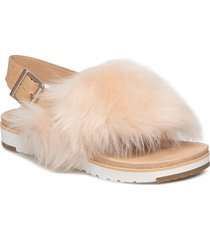 w holly shoes summer shoes flat sandals creme ugg