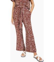 alfani geometric-print tie-waist wide-leg pants, created for macy's