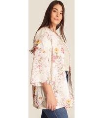 kimono blanco perla-rosa patprimo