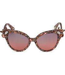 lele sadoughi women's crystal lily 52mm cat eye sunglasses - sunset