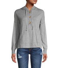 olive & oak women's dropped shoulder sweater - light grey - size xs