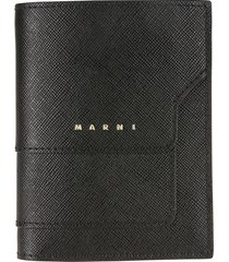 marni button-snap wallet