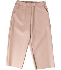douuod powder pink faux leather pants