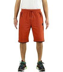 c.p. company diagonal raised fleece burnt ochre bermuda shorts