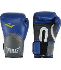 luvas de boxe everlast pro style elite 14 oz - azul/branco