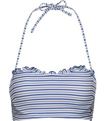 structured bandeau bikinitop blå tommy hilfiger