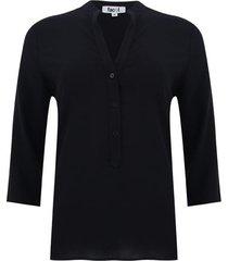 blusa unicolor color negro, talla l