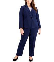 le suit plus size single-button pants suit