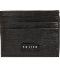 men's ted baker london woodgrain leather card case