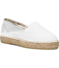 slfellen leather espadrilles sandaletter expadrilles låga vit selected femme