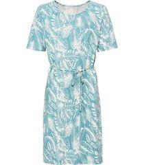 jersey jurk met korte mouw van hennep/bio-katoen, waterblauw s