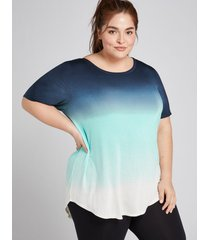 lane bryant women's livi tunic top - dip-dye 26/28 gulf stream