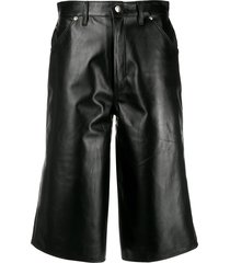 manokhi high-rise wide-leg bermuda shorts - black