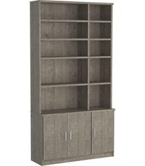 estante livraria 3 portas 1280 demoliã§ã£o m foscarini - marrom - dafiti