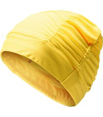 donna plus pieghevole cappello da nuoto cuffie protezione lunga capelli cuffia da nuoto in stoffa