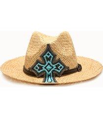 sparti cappello panama croce western
