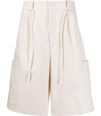 jil sander mid-rise bermuda shorts - neutrals