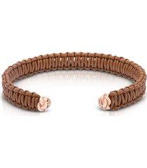 be unique designer men's bracelets, two knots leather bracelet