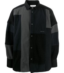 ambush patchwork shirt - black