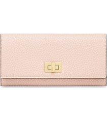 fendi textured continental wallet - pink