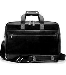 men's bosca stringer leather satchel - black