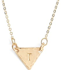 nashelle 14k-gold fill initial triangle necklace in 14k gold fill t at nordstrom