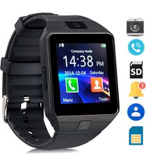 smartwatch reloj inteligente dz09 android negro